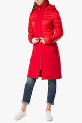 Chiara- Refreshing urban coat -mix of Down and Fabric