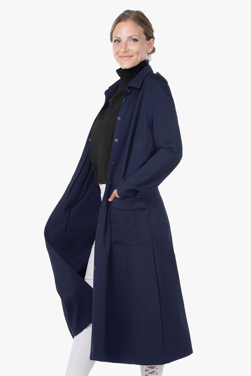 Stretch Dress-Coat - Navy