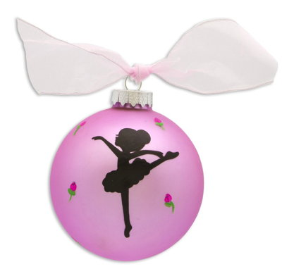 BALLET DANCER VINTAGE HANDPAINTED GLASS BALL