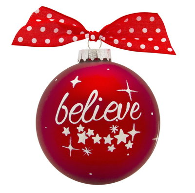 BELIEVE VINTAGE HANDPAINTED GLASS BALL