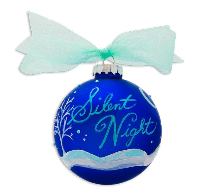 SILENT NIGHT VINTAGE HANDPAINTED GLASS BALL