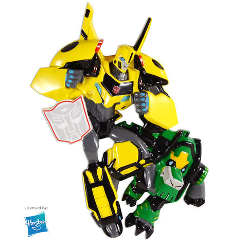 PERSONALIZED CHRISTMAS ORNAMENT-TRANSFORMERS-BUMBLEBEE & GRIMLOCK
