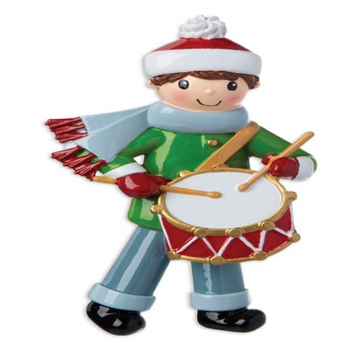 Personalized Christmas Ornament Little Drummer BOY/Drummer Boy Christmas Ornament/Custom Christmas Ornament Toy Soldier/Personalized by Santa Soldier Toy Drum Ornament