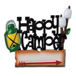Personalized Christmas Ornament Happy Camper/Camping Christmas Ornament/Glamping Custom Xmas Holiday Ornament/Personalized By Santa