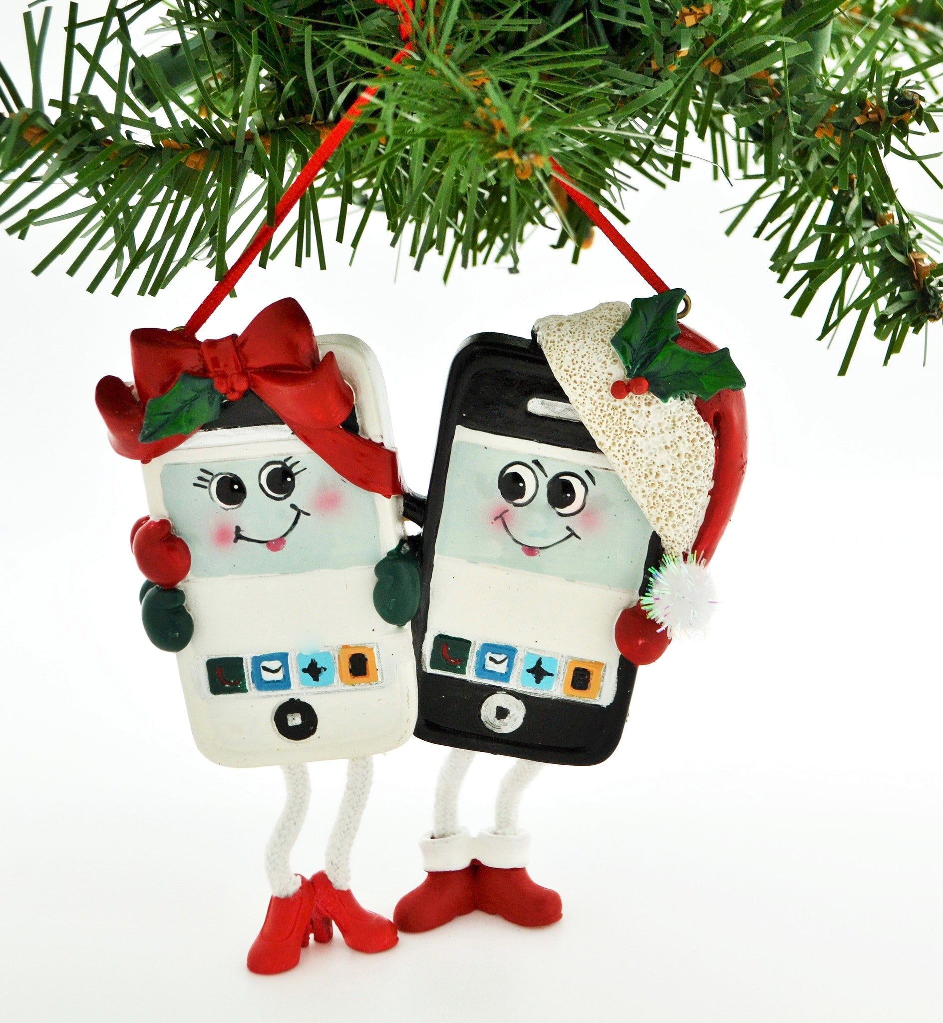 Personalized couples christmas ornaments - Personalized Christmas Ornament Cell Phone Couple