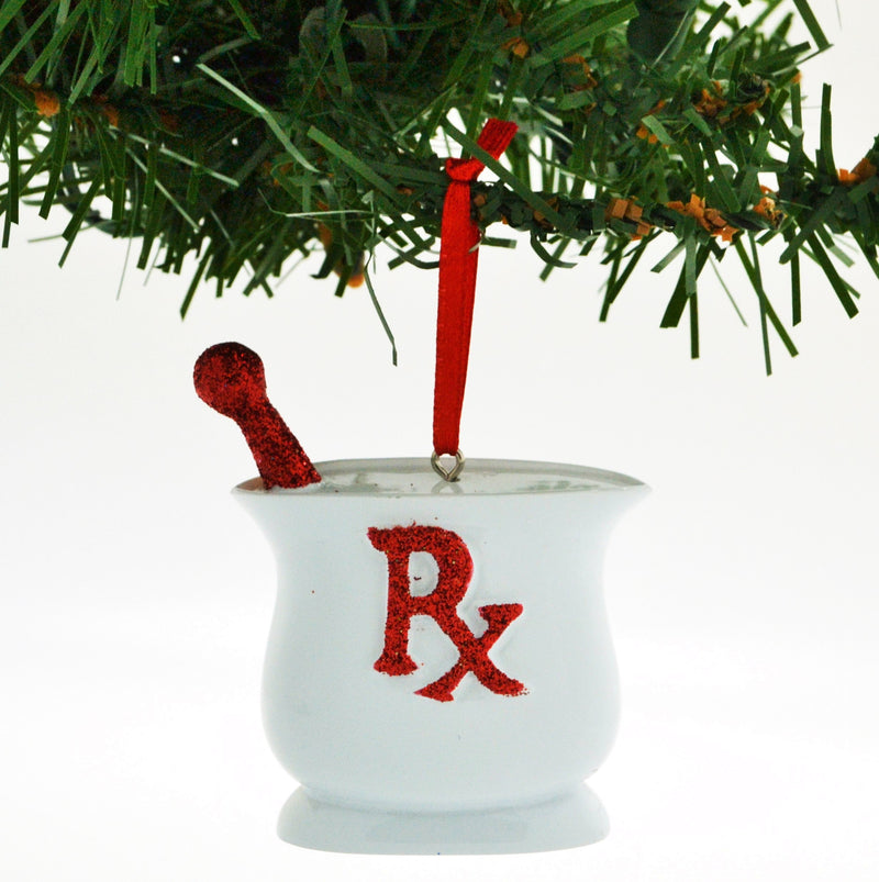 Personalized Christmas Ornament Occupation Pharmacist RED/Personalized Pharmacist Christmas Ornament/Pharmacy School Ornament/Personalized by Santa by Grantwood Technology
