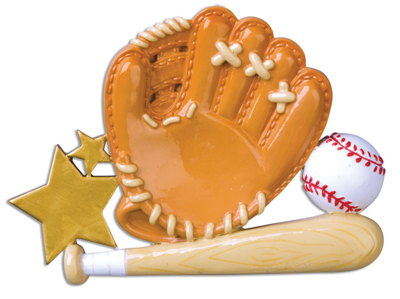 Personalized Christmas Ornaments Sports- Baseball Glove/Personalized by Santa/Baseball Christmas Ornaments/Baseball Ornament