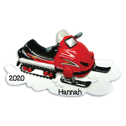 Personalized Christmas Ornaments Hobbies/Activities-Snowmobile/Personalized by Santa/Snowmobile Ornament/Snowmobile Christmas Ornament