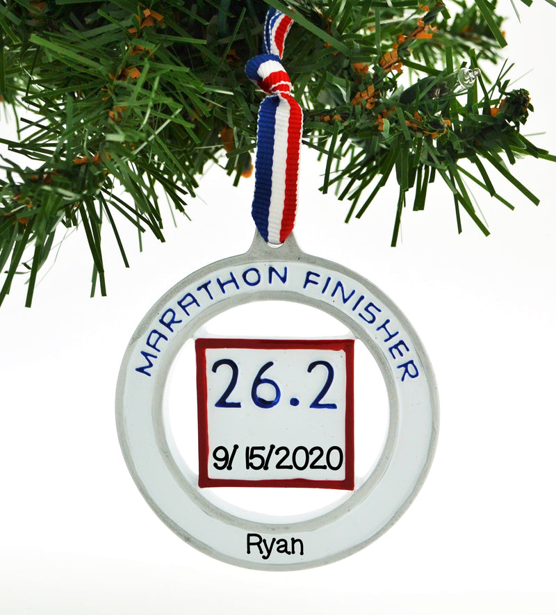 Personalized Christmas Ornament Distance Endurance Full Marathon Finisher 26.2 / Personalized by Santa/Marathon Watch Ornament / 26.2 Marathon/Marathon Ornament