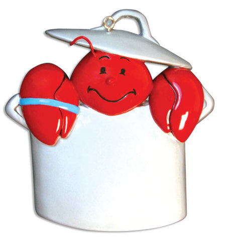 PERSONALIZED CHRISTMAS ORNAMENT TRAVEL-LOBSTER/POT