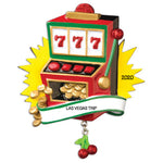 Grantwood Technology Personalized Christmas Ornaments Travel-Slot Machine/Personalized by Santa/Gambling Ornament/Slot Machine Ornament/Casino Ornament