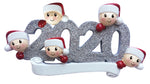 Grantwood Technology Personalized Christmas Ornaments Family SERIES-2020 FACE Family of 5 / Personalized by Santa/Family Ornament/Family Ornament 2020 / Family Ornament 5