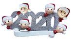 Grantwood Technology Personalized Christmas Ornaments Family SERIES-2020 FACE Family of 6 / Personalized by Santa/Family Ornament / 2020 Family Ornament/FACE Ornaments