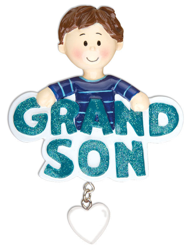 GRANDSON W/DANGLING HEART