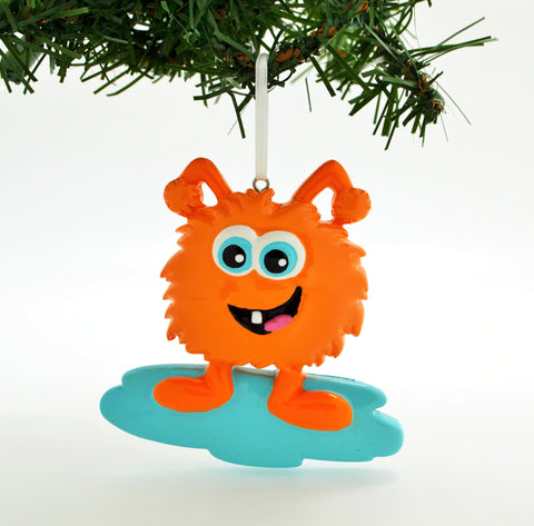 PERSONALIZED CHRISTMAS ORNAMENT-ADORABLE ORANGE MONSTER