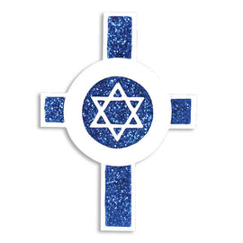 STAR OF DAVID ON CROSS