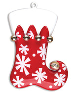 RED STOCKING W/SNOWFLAKES