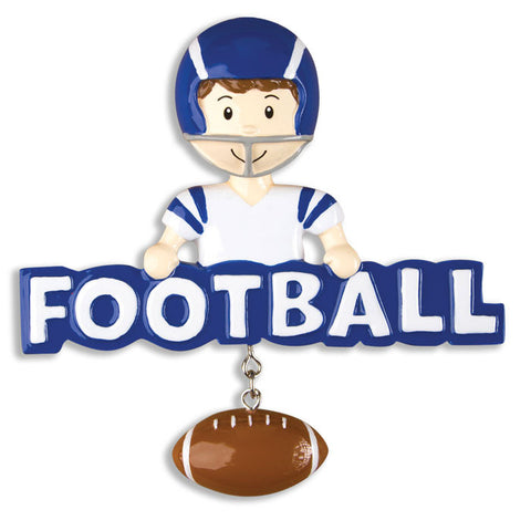 PERSONALIZED CHRISTMAS ORNAMENT SPORTS-FOOTBALL-BOY