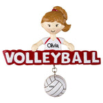 Personalized Christmas Ornaments Sports-Volleyball-Girl/Personalized by Santa/Volleyball Ornament/Volleyball Ornaments/Volleyball Christmas Ornament for Girls