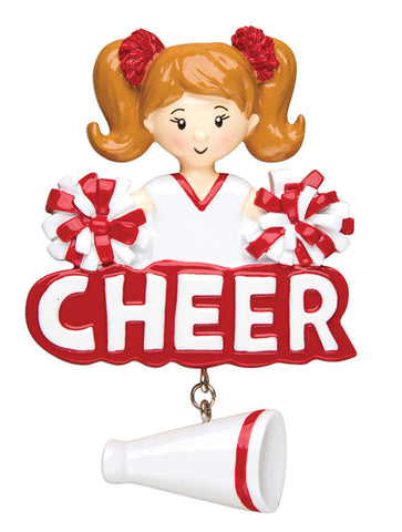 PERSONALIZED CHRISTMAS ORNAMENT SPORTS-CHEERLEADER