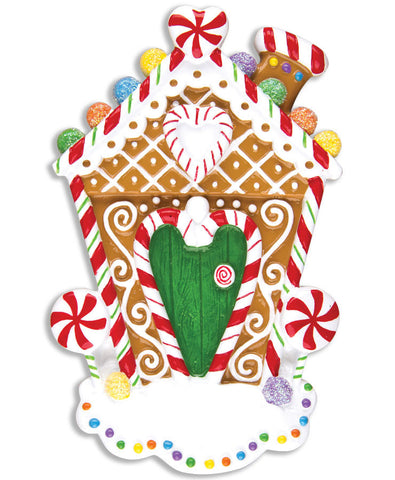 PERSONALIZED CHRISTMAS ORNAMENT HOME-GINGERBREAD HOUSE