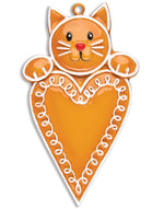 GINGERBREAD CAT WITH HEART
