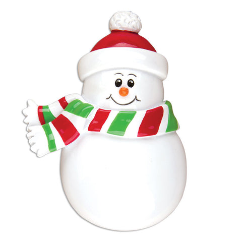 PERSONALIZED CHRISTMAS ORNAMENT CHRISTMAS-SNOWMAN CHARACTER