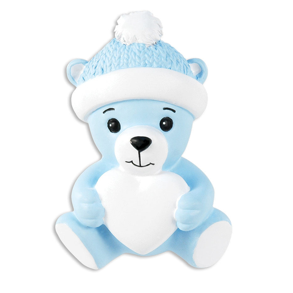BLUE BABY BEAR W/HEART