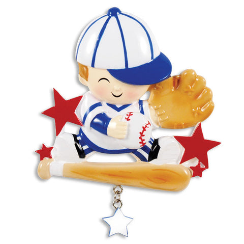 PERSONALIZED CHRISTMAS ORNAMENT CHILD-'LIL SLUGGER