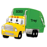 Personalized Christmas Ornaments Child- Garbage Truck/Personalized by Santa/Truck Christmas Ornament/Garbage Truck Christmas Ornament