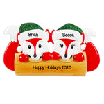 Personalized Christmas Ornaments Family Series- Fox Family of 2 / Personalized by Santa/Fox Ornament/Fox Christmas Ornament
