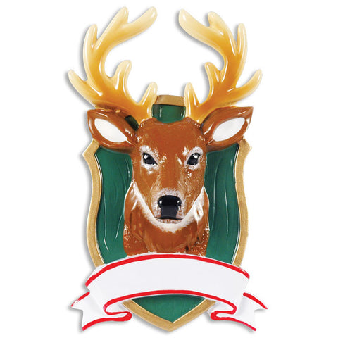 PERSONALIZED CHRISTMAS ORNAMENT HOBBIES/ACTIVITES-DEER MOUNT