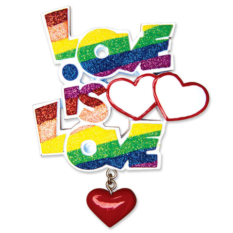 "COUPLES-GAY PRIDE ""LOVE IS LOVE"""