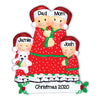 Grantwood Technology Personalized Christmas Ornaments Family Series- Pajama Family of 4 / Personalized by Santa/Personalized Family Christmas Ornaments/Personalized Christmas Ornaments Family of 4