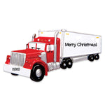 Personalized Christmas Ornaments Occupation- SEMI Truck/Personalized by Santa/Truck Ornament/SEMI -Truck Ornament