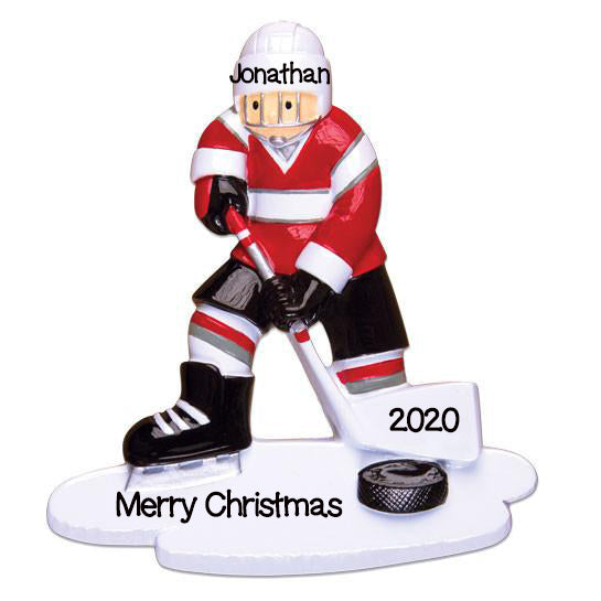 Personalized Christmas Ornaments Sports Hockey Player, Hockey Ornament, Personalized Hockey Christmas Ornament, Hockey Player Ornament
