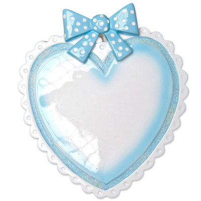 BABY'S FIRST-BABY HEART-BLUE