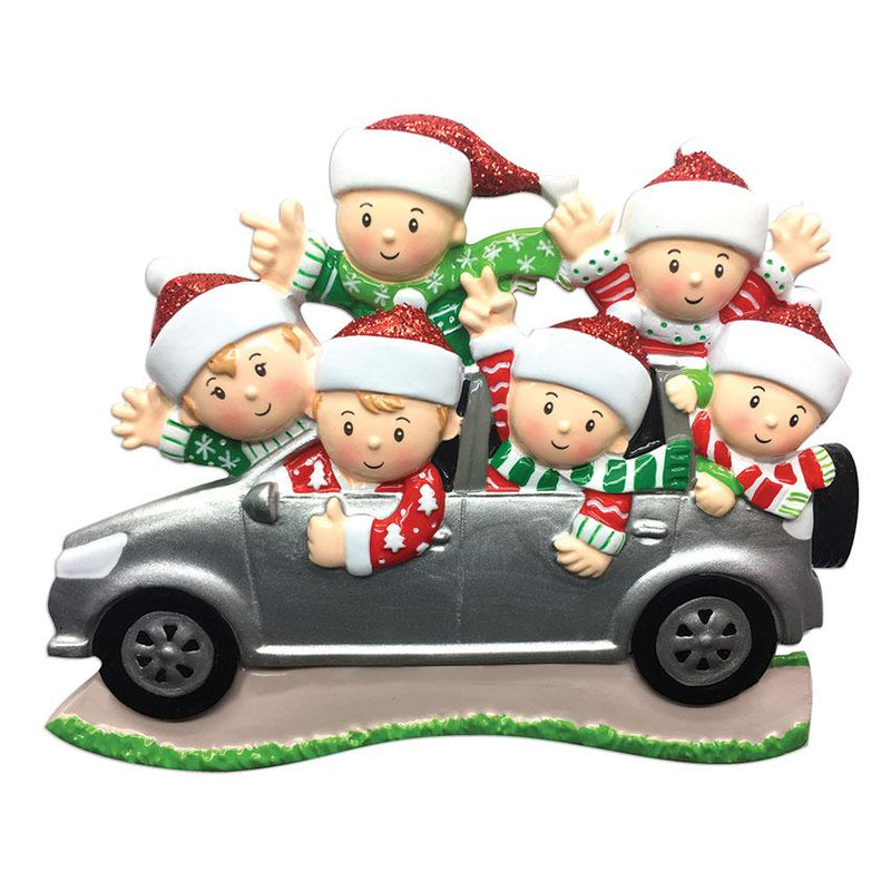 Personalized Christmas Ornaments Family SUV Car Family of 6 / Personalized by Santa