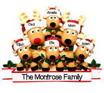 Grantwood Technology Personalized Christmas Ornaments Family New Reindeer Family of 6 / Personalized Family Christmas Ornament Family of 6 / Reindeer Family Ornaments 6 / Personalized by Santa