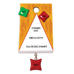 Personalized Christmas Ornaments Hobbies Activities - Corn Hole Bag TOSS/Personalized by Santa/Game Ornament/Cornhole Ornament/Game Ornament