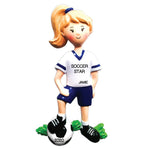 Grantwood Technology Personalized Christmas Ornaments Sports Girl Soccer Player/Personalized by Santa/Soccer Ornament/Girls Soccer Ornament/Soccer Christmas Ornament