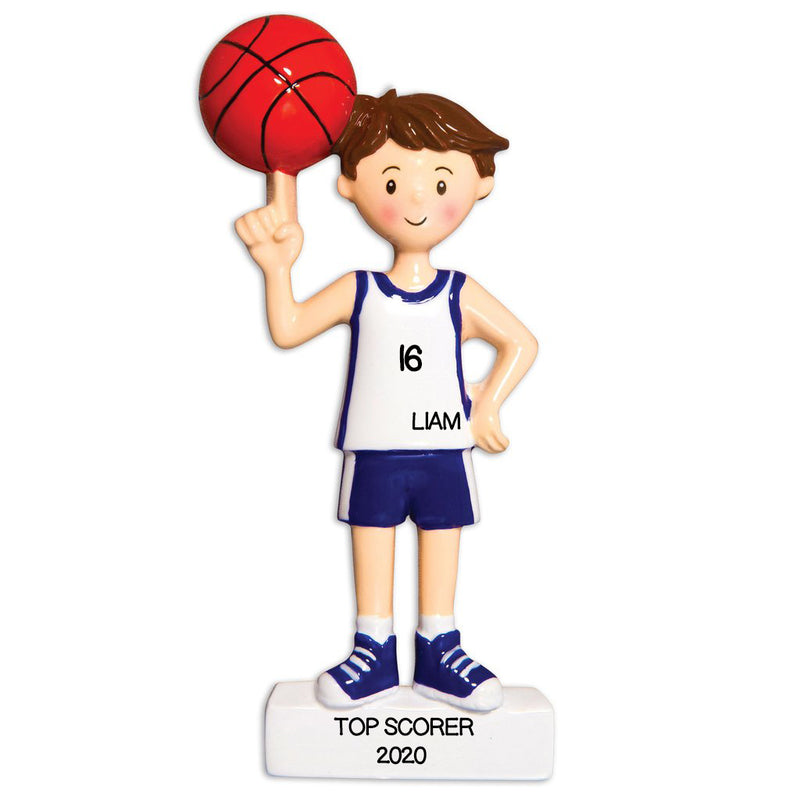 PERSONALIZED CHRISTMAS ORNAMENTS SPORTS BOY BASKETBALL PLAYER / PERSONALIZED BY SANTA / PERSONALIZED BASKETBALL CHRISTMAS ORNAMENTS / CUSTOM BOYS BASKETBALL ORNAMENTS / BASKETBALL ORNAMENT