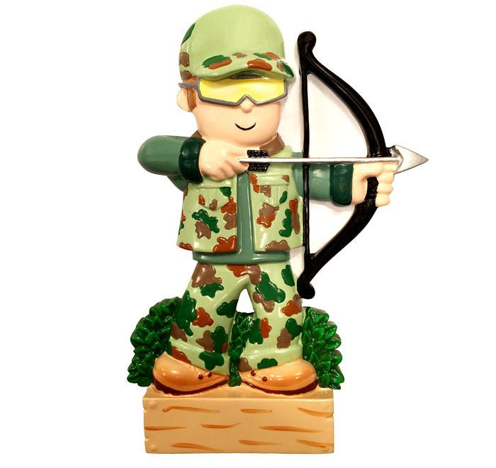 Grantwood Technology Personalized Christmas Ornaments Hobbies-Archery Hunter/CAMO/Personalized by Santa/Crossbow Ornament/Archery Ornaments/Hunting Ornament