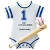 PERSONALIZED CHRISTMAS ORNAMENT BABY'S FIRST- BABY BASEBALL JERSEY-BLUE/ CUSTOMIZED BABY BOY FIRST CHRISTMAS ORNAMENT/ NEW BABY BOY CHRISTMAS ORNAMENT/ BABY BOY SPORTS ORNAMENT/ BABY'S 1ST CHRISTMAS