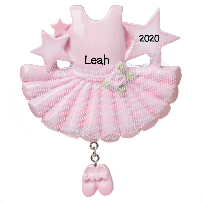 PERSONALIZED CHRISTMAS ORNAMENT CHILD- PINK TUTU/ PERSONALIZED GIRLS DANCE CHRISTMAS ORNAMENT/ GIRLS BALLET CHRISTMAS ORNAMENT/ I LOVE DANCE ORNAMENT/ CUTE DANCE ORNAMENTS/ DANCING GIRL ORNAMENTS