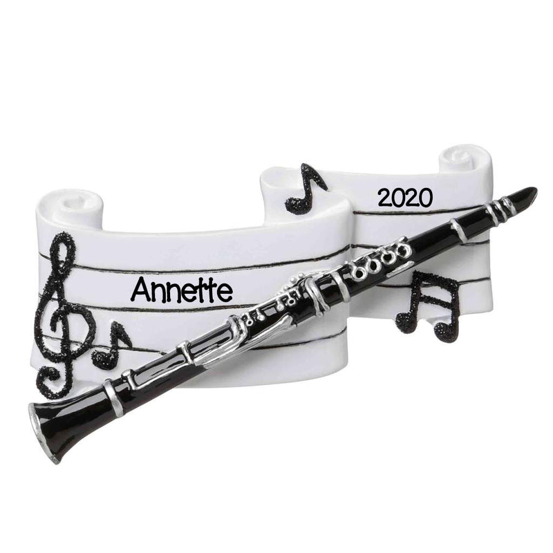 Personalized Christmas Ornament Instrument Band Clarinet