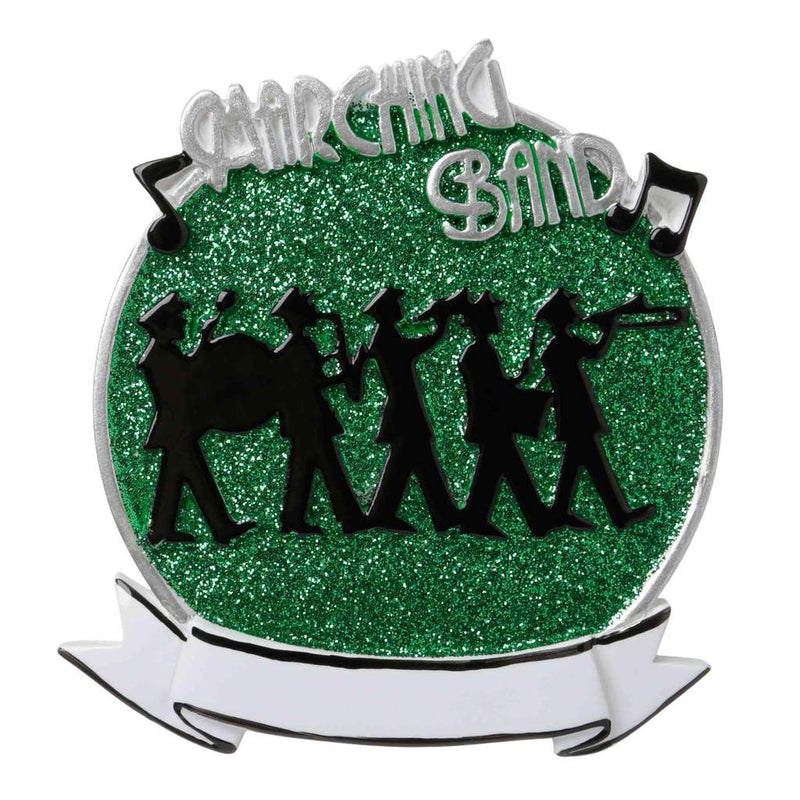 Personalized Christmas Ornament Instruments- Marching Band Green/Marching Band Ornament/Band Ornament