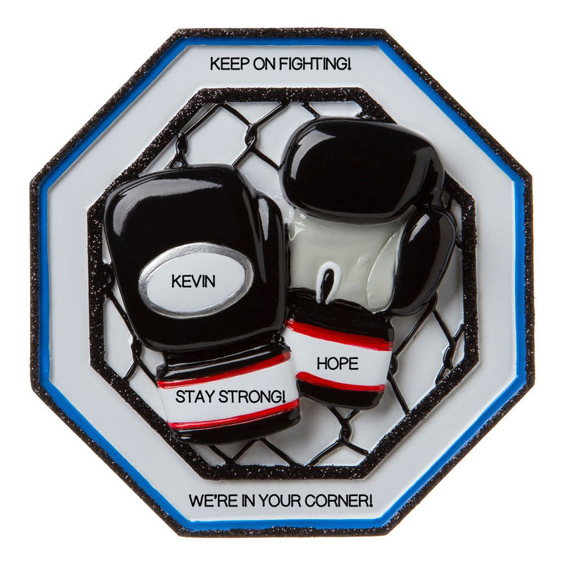 Personalized Christmas Ornament MMA Fight Boxing Glove Ornament