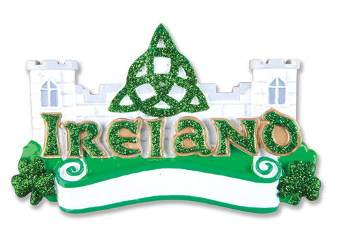 PERSONALIZED CHRISTMAS ORNAMENT TRAVEL-IRELAND