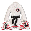 Personalized Christmas Ornaments Sports-Karate Robe/Personalized by Santa/UFC Ornament/Judo Ornament/Karate Ornament